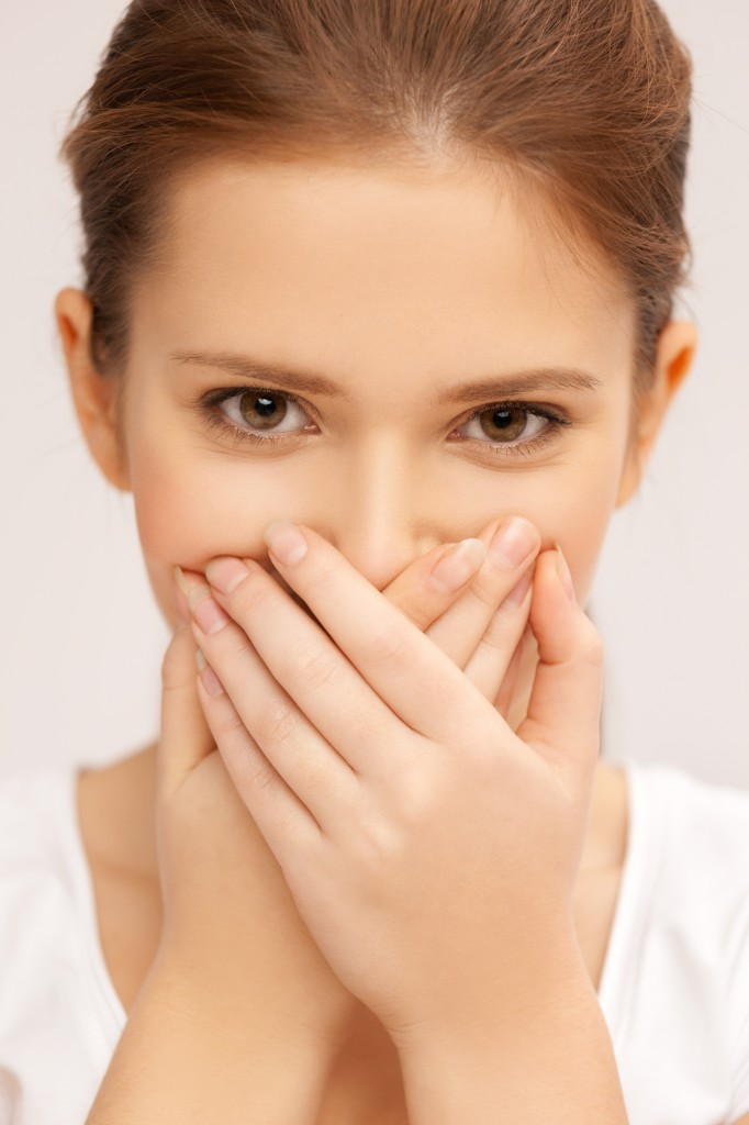 woman with bad breath - get rid of bad breath