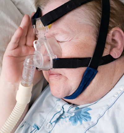 Continuous Positive Airway Pressure (CPAP) is pressurized air generated from a bedside machine
